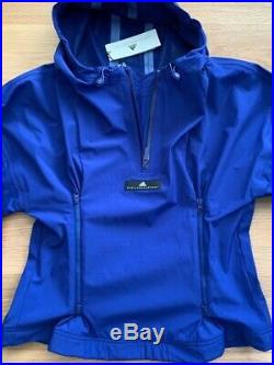 ADIDAS BY STELLA MCCARTNEY Shell Hooded Jacket in Blue Size M