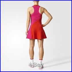 Adidas Stella McCartney Women Tennis Dress + Shorts SzXS/S Red Pink BQ8480 Rare