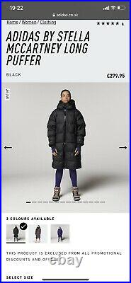 Adidas Stella Mccartney Coat Current Season BNWT Size L