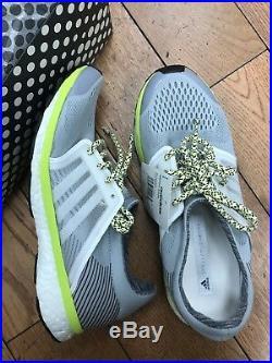 Adidas by Stella McCartney Women's Adizero Adios Sneaker EGGSHELL Grey US7.5/UK6