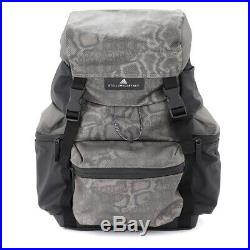 Adidas by Stella McCartney black backpack with python print