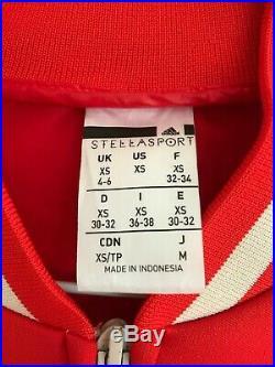 Adidas by Stella Mccartney Stellasport Jacket XS 4-6 Red and Beige Bomber Jacket