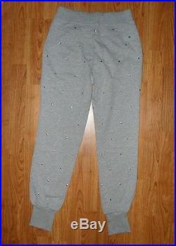 Adidas stella mccartney nwot organic silver stud sweatpants XS