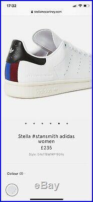 Adidas x Stella Mccartney Stan Smith Vegan Sneakers UK 3.5/EU 36