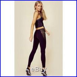 Blue Life Fit High Waist Strappy Leggings Gym Yoga Adidas Stella Mccartney Black