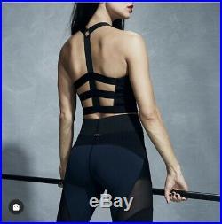 Bnwt Carbon38 Michi Mirage Mesh Navy Black Leggings Adidas Stella Mccartney Xs