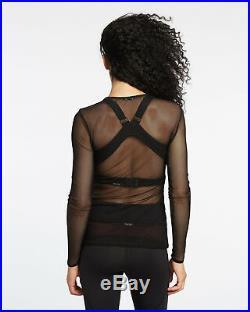 Bnwt Michi Dusk Black Mesh Sheer See Throug Top Tank Adidas Gym Stella Mccartney