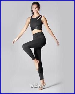 Bnwt Michi Glow Black Bra Cut Off Top Adidas Gym Yoga Stella Carbon38 Mccartney