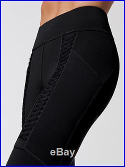 Bnwt Michi Hypernova Laced Suspender Leggings Adidas Stella Mccartney Black Yoga