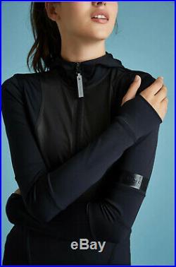 Carbon38 Bnwt Adidas Stella Mccartney Black Midlayer Hoodie Alo Jacket Koral M