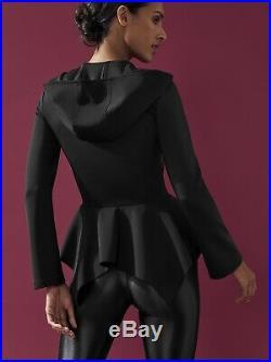 Carbon38 Bnwt Michi Stella Mccartney Adidas Black Midlayer Alo Jacket Koral Yoga