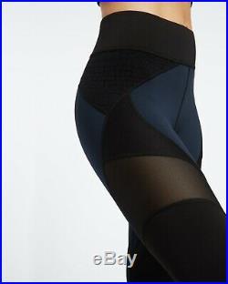 Carbon38 Michi Mirage Mesh Navy Black Leggings Adidas Stella Illusion Mccartney
