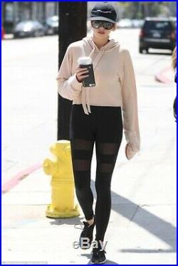 Carbon38 Michi Psyloque Mesh Black Leggings Adidas Stella Alo Mccartney Yoga Xs