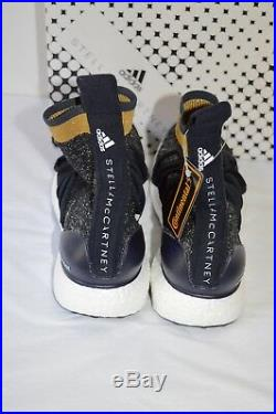 New $270 Adidas Ultra Boost X Mid Stella McCartney Legend Blue/Gold Ultraboost
