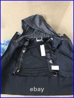 New Ladies Adidas Stella McCartney Windbreaker Cropped M Run Trail Jacket Blue