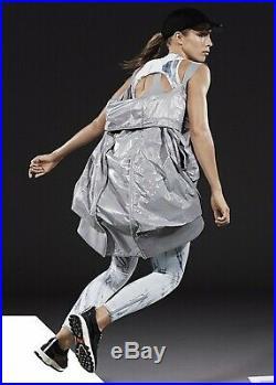 New Reflective Adidas Stella McCartney XS S M Jacket Puffer Bomber Sport Silver