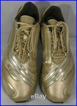 RARE ADIDAS Stella McCartney 1st Collection GOLD WORKOUT GYM TENNIS SHOES SZ 10
