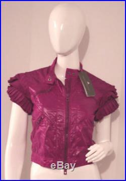 Rare STELLA McCARTNEY Adidas RUFFLE Purple CROP Sport JACKET VIOLET Yoga S