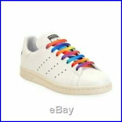 STELLA MCCARTNEY Adidas Originals Stan Smith Sneakers Rainbow Laces Size 10.5M
