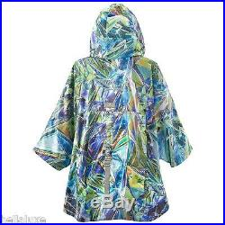 STELLA McCARTNEY adidas RUN PRINTED CAPE Hoody sweat shirt dress JacketWomens L
