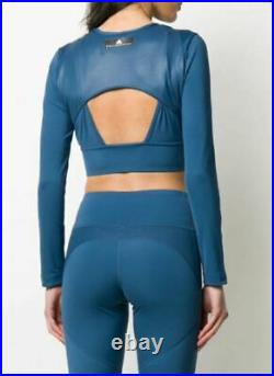 STELLA McCARTNEY x Adidas FK8865 Training Crop Top Vista Blue (L)