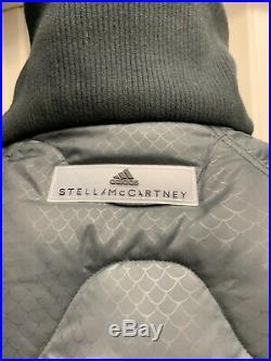 Stella McCartney Adidas Athletic Long Padded Jacket Size S Dark Grey
