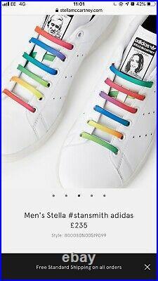 Stella Mccartney Stan Smith Adidas Trainers Size 5 UK Vegan Shoes Free P&P