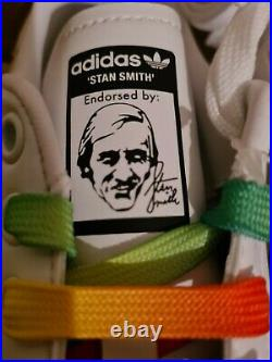Stella Mccartney Stan Smith Adidas White Trainers Size 6 UK Vegan Shoes