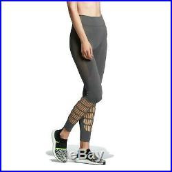 Women Adidas By Stella McCartney Warp Knit Tights Colour Grey. New